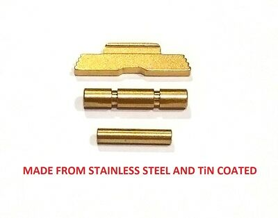 CDS EXTENDED SLIDE Lock Lever And Pins For GLOCK G42/43 Gold TiN Coated