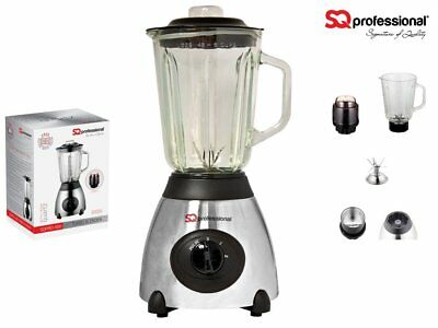 SQ Pro Luminate Blender with Measuring Glass Jug 1.5L Silver