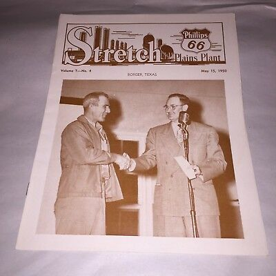 Stretch Phillips 66 Plains Plant Monthly News Borger , Texas  May 15, 1950
