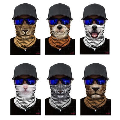 3D Animal Ski Cycling Fishing Scarf Neck Warmer Face Mask Balaclava Bandana Best
