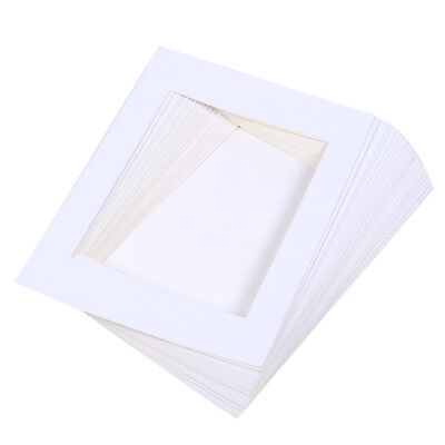 25PCS PICTURE PHOTO Frame Mat Board Acid-Free Pre-Cut White Picture ...