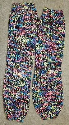 Youth One Size Fits Most--Justice Brand Multi Colored Leg Warmers--Excellent