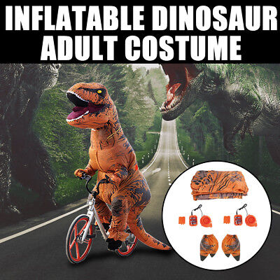 Adult T-Rex Inflatable Dinosaur Costume Jurassic World Park Blowup Funny Outfit