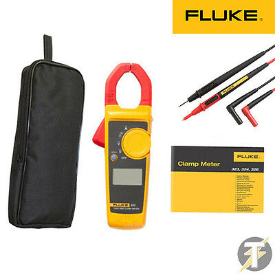 Fluke 323 True RMS Pinza Amperometrica Kit1d With Tl175 Test Mine e LDMC33