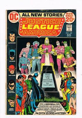 Justice League of America # 100  JSA 7 Soldiers  grade 3.5 scarce book !!
