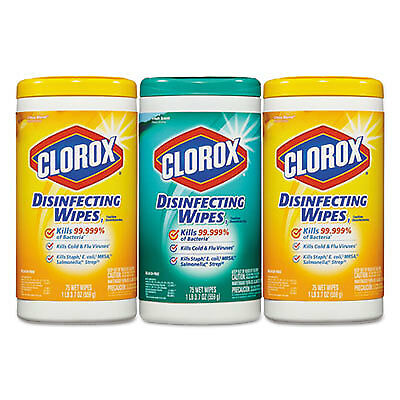 Disinfecting Wipes, 7 x 8, Fresh Scent/Citrus Blend, 75/Canister, 3/Pk 30208PK