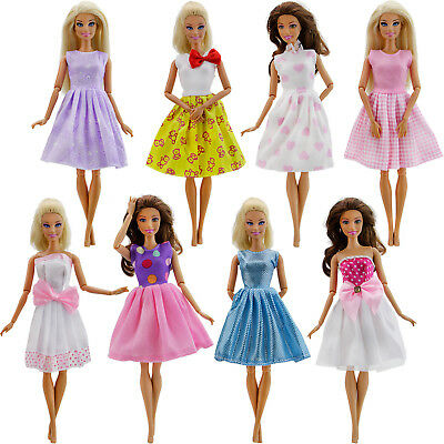 Girlish Mini Dress Skirts Clothes Outfit Pretty Accessories For Barbie Doll Hot