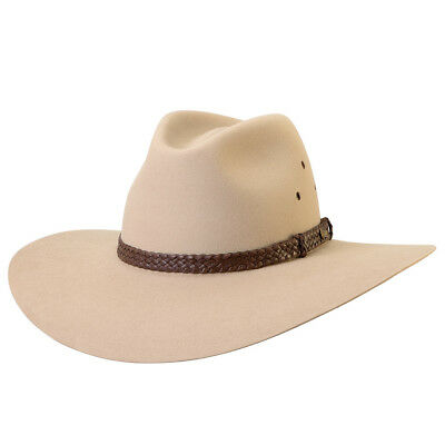 Akubra Riverina Wide Brim Felt Hat - Sand