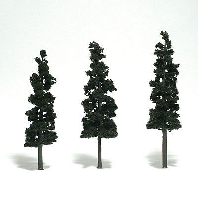 """Woodland Scenics N, HO, or O Conifer Green Pine Trees 6-7"""" 3 Pack # TR1562 F/S"""