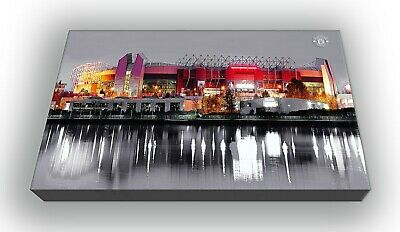 Manchester United Old Trafford Wall Canvas Picture Print Wall Art   63x40cm