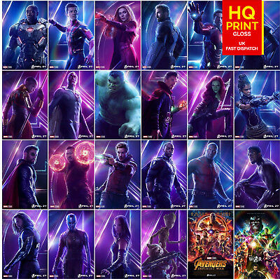 Avengers Infinity War Movie Poster Characters Film Print | A5 A4 A3 A2 A1
