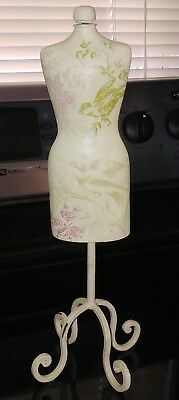 "Vtg 15""Miniature SHABBY CHIC Headless MANNEQUIN  Clothes Dress HANGER Pastels"