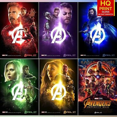 AVENGERS Marvel Movie Poster POSTERS Comic SUPER HERO Decor for Wall A4 A3 A2 A1