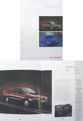 Toyota Carina E S GS CD GL CDX 1996-97 Original UK Sales Brochure Pub. No. 90929
