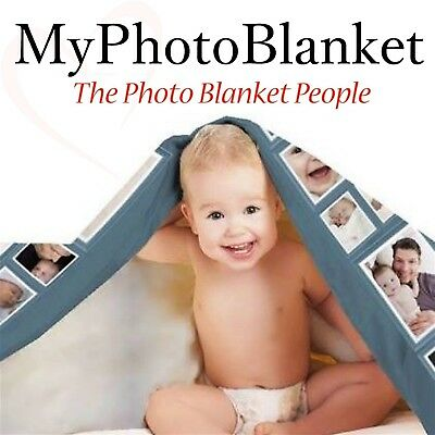 Personalised Photo Blanket Holds Up To 200 Photos!! Perfect For Baby Birthdays