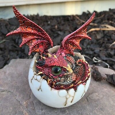 Blood Red Copper Dragon Baby Hatching from Egg Hatchling GSC71759