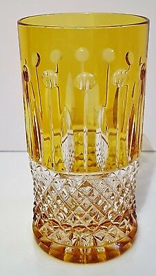 Faberge Xenia Yellow Gold Cased Cut To Clear Highball, New, Signed