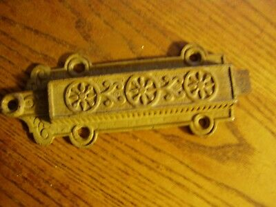 "Antique Cast Iron Victorian Eastlake Chain  Pull   6 3/4""  Door Latch"