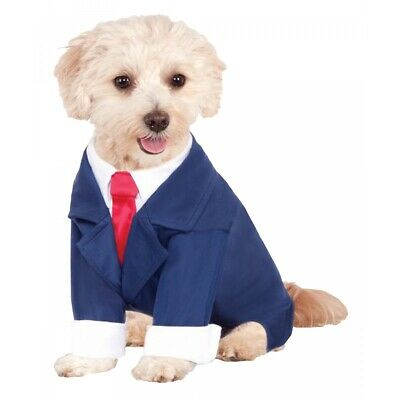 Business Suit Costume Pet Halloween Fancy Dress