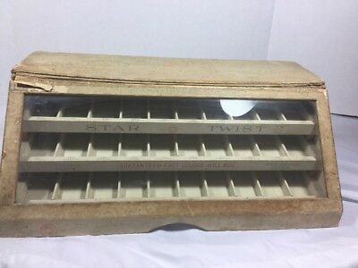 Antique Star Twist Thread Display Case Store Counter Top Case American Thread Co