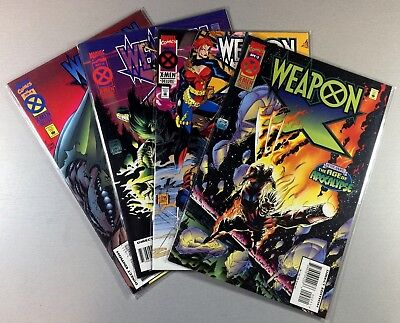 MARVEL Comics WEAPON X 1995 #1 2 3 4 COMPLETE Age of Apocalypse VF/NM Ship FREE!