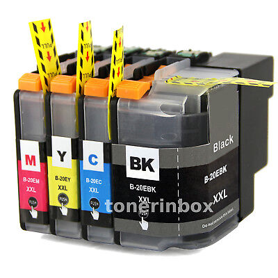 4pk LC20E LC-20E XXL ink cartridge For Brother MFC-J5920DW MFC-J775DW MFC-J985DW