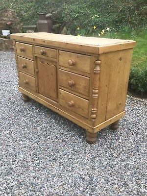 Antique Waxed Pine Sideboard SN-02