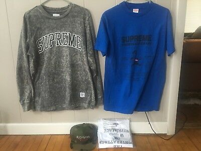 Supreme bundle lot (Supreme shirts, supreme hats)