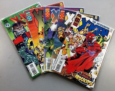 Marvel ASTONISHING X-MEN #1-4 + WRATH OF APOCALYPSE #1 One Shot VF/NM Ships FREE