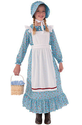 Brand New American Colonial Pioneer Girl Child Costume (Large)