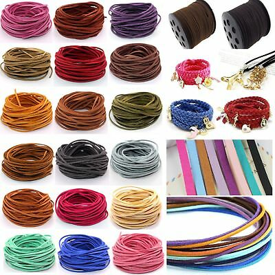 10yd 3mm Suede Leather String Jewelry Making Bracelet DIY Thread Cord/SHK