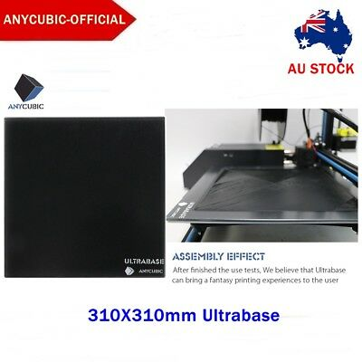AU STOCK Anycubic 310x310mm Ultrabase 3D Printer Platform Glass Plate for MK2/3