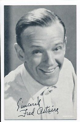 """Fred Astaire Penny Arcade Vending Machine Mutoscope Card 3 3/8"""" x 5 3/8"""" 1940s"""