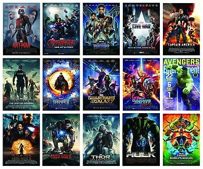 Marvel Movie Entertainment Posters Options A3 A4 Wall Art Buy 1 Get 2 Free Hulk