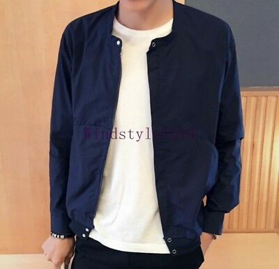 Men's Casual Stand Collar Summer Outwears Jacket Korean Student's Coat Plus Size