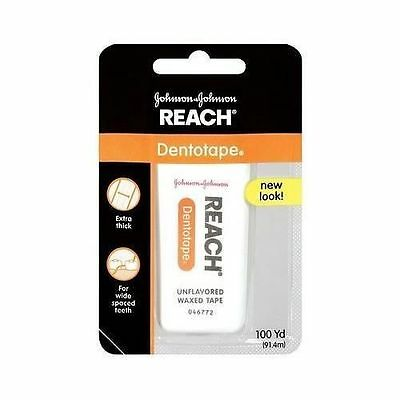 JOHNSON Reach Dentotape Dental Floss Wide Unflavored - 100 Yard