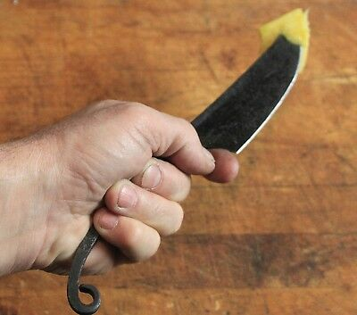 Most Authentic Hand Wrought Iron Medieval Eating Knife Adult Men's 10""