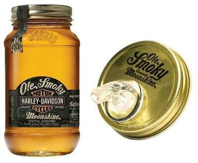 Ole Smoky Whisky Charred Moonshine Harley Davidson 70 Cl Con Tappo Dosatore