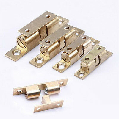 2PCS New Cabinet Door Brass Drawer Push Open Catch Latch With Magnet Golden