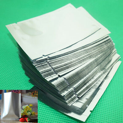 100pcs - Heat Seal Mylar Smell Proof Bags Pouch Dry Bag Protect - Various Sizes
