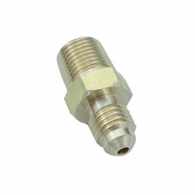 """Brass SAE Flare Pipe Fitting Male Connector 1/8"""" OD 45 Deg Flare * 1/8"""" NPT"""
