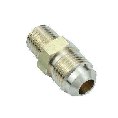 "Brass SAE Flare Pipe Fitting Male Connector 3/8"" OD 45 Deg Flare * 1/4"" NPT"