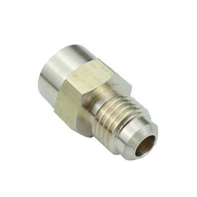 "Brass SAE Flare Pipe Fitting Female Connector 1/4"" OD 45 Deg Flare * 1/8"" NPT"