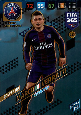 Fifa 365 Cards 2018 - 427 - Marco Verratti - Power UP - Key Players