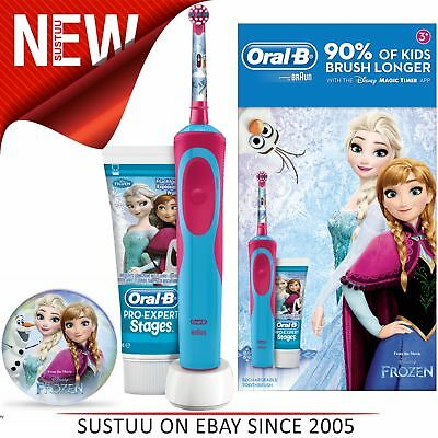 Oral-B Power Kids Gift Pack│Electric Toothbrush & Toothpaste│Frozen Characters