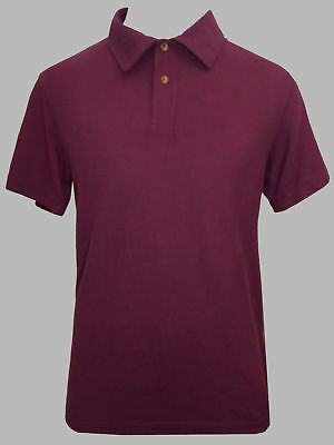 New EX M&S Collection Mens Pure Cotton Short Sleeve Tailored Fit Polo Shirt Top