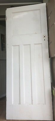 6 x Reclaimed 1930s 1 over 3 panel doors. Unrestored