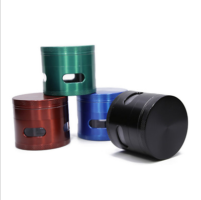 2.5inch 4 Layer Zinc Alloy Smoking Grinder Tobacco Herb Metal Crusher New  Gift