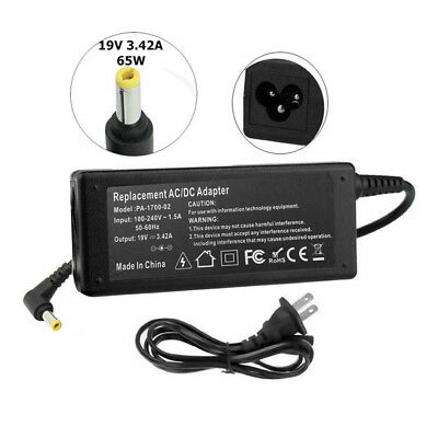 19V 3.42A 65W Power Supply AC Adapter Charger Cord For Acer Gateway 5.5mm*1.7mm