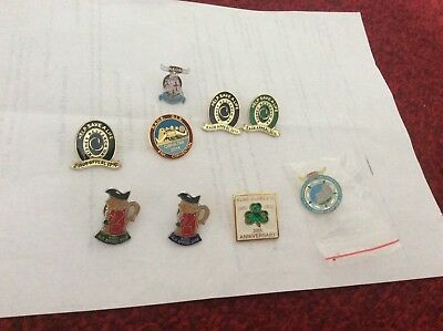 Job lot of 9 R.A.O.B lapel pins, collectable